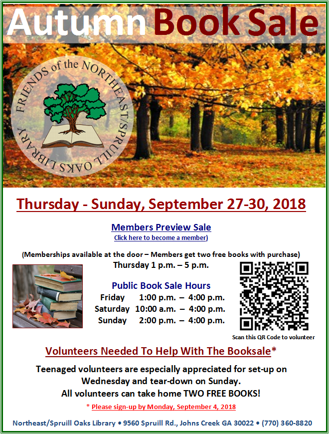 Autumn 2018 Book Sale Poster
